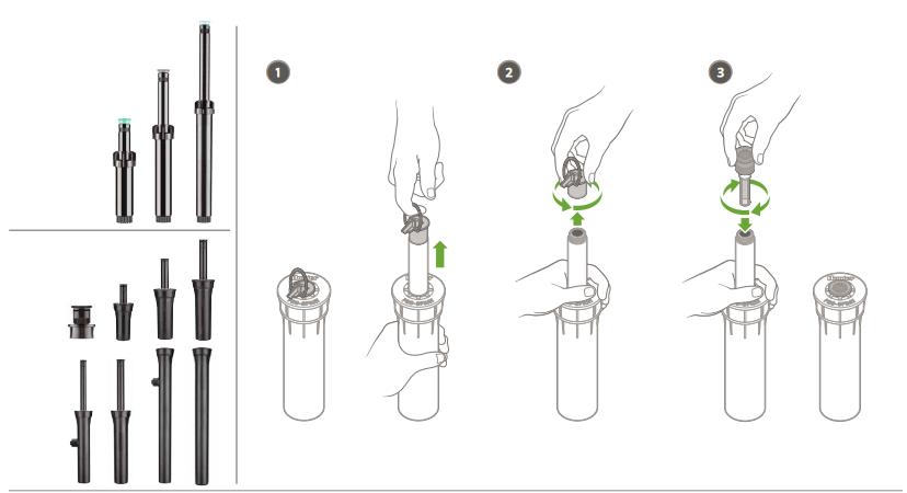 Cách lắp đầu phun vào thân vòi Hunter