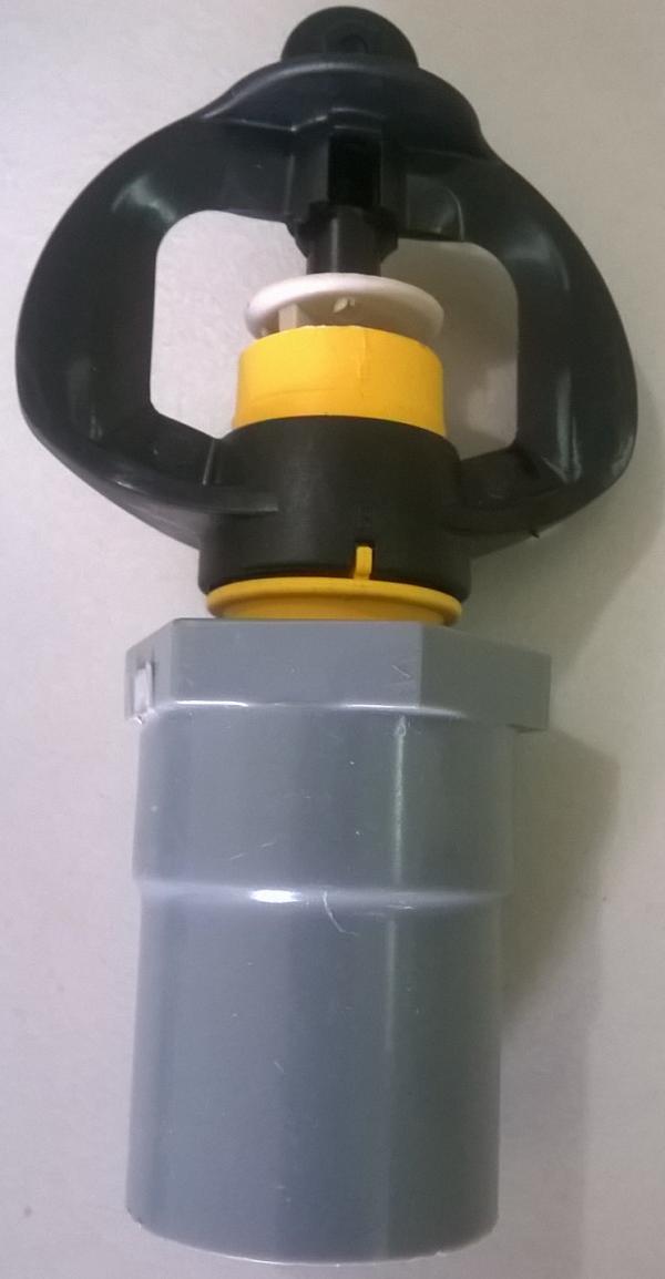 Vòi Gyronet có bán kính phun 3-4 mét rất phù hợp cho việc tưới rau